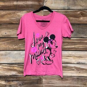 Minnie Mouse Disney pink love valentines tee shirt
